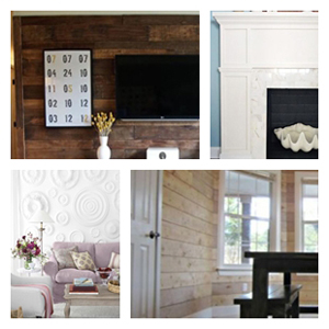 Wall Treatments + Mantel Makeovers