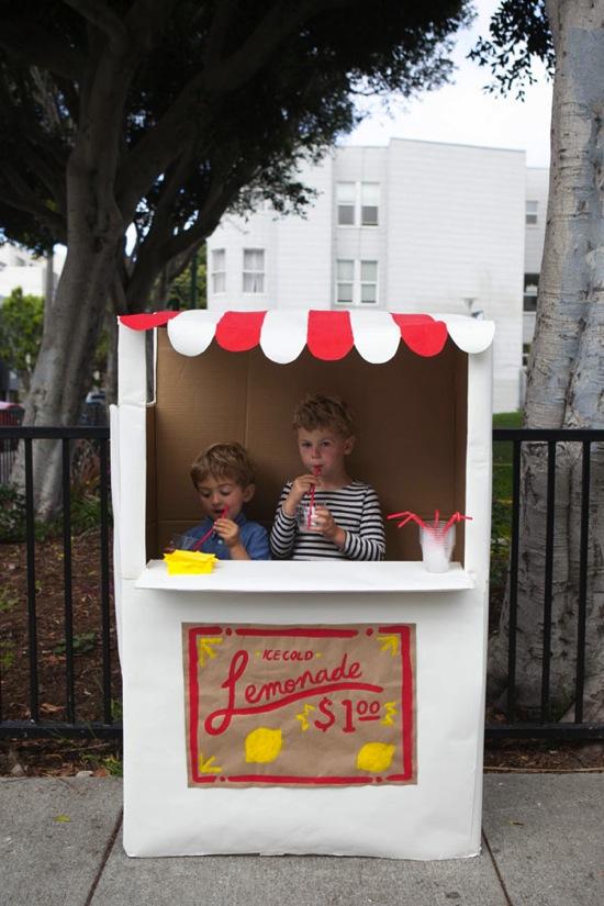 Cardboard Lemonade Stand Oh Happy Day