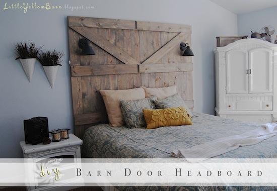 DIY Barn Door Headboard Little Yellow Barn