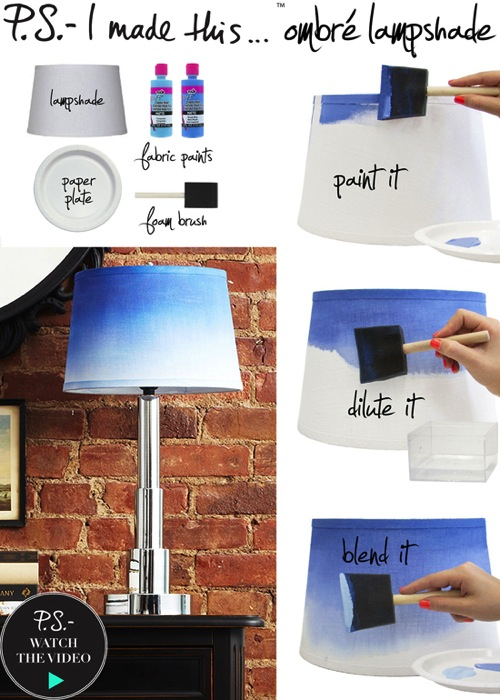 DIY Ombre Lamp Shade PS I Made This