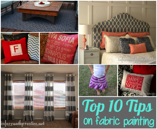 Tips For Painting Fabric Infarrantly Creative