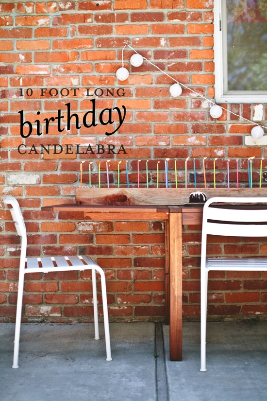10 Foot Long Birthday Candelabra A Subtle Revelry