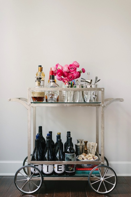 Beautiful Bar Cart Mandy Kellogg Rye