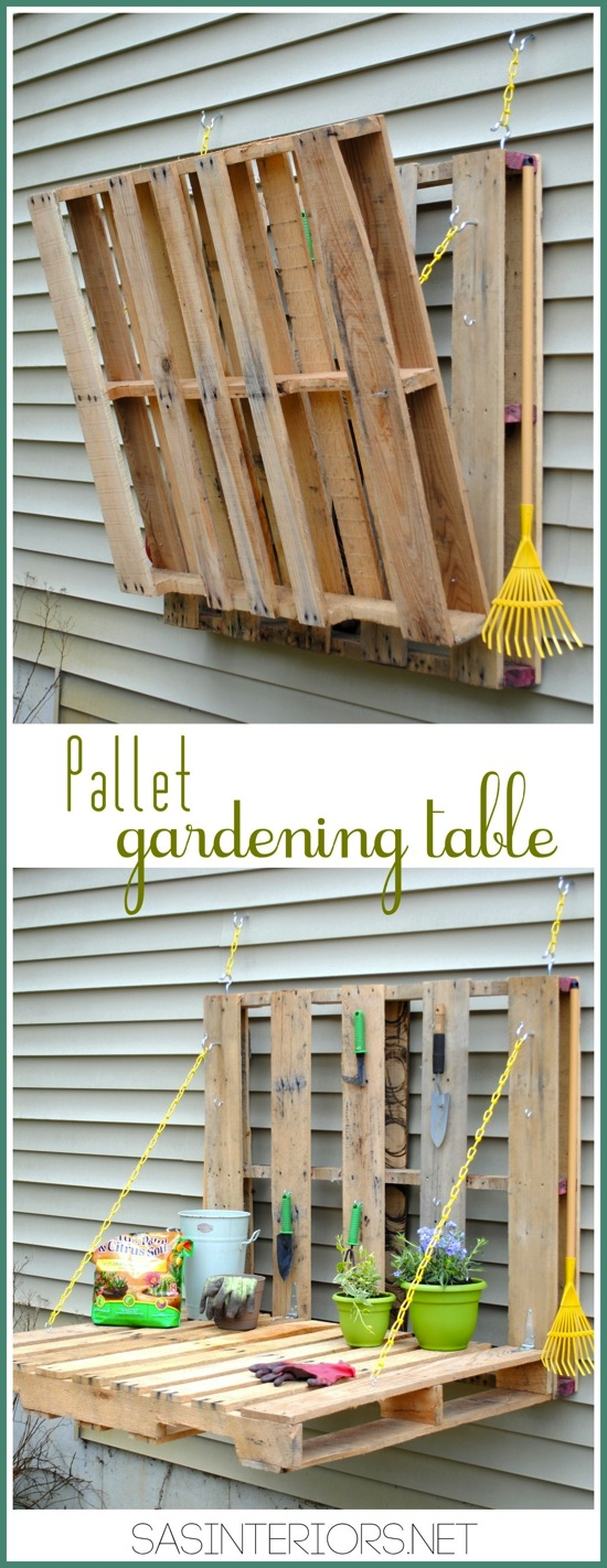 Pallet Gardening Table SAS Interiors