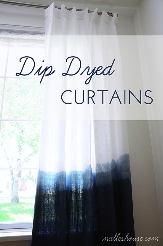 Dip Dyed Curtains 4 Men 1 Lady
