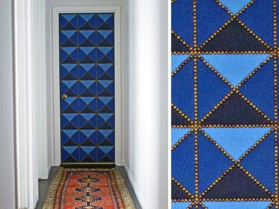 Geometric Upholstered Door HGTV