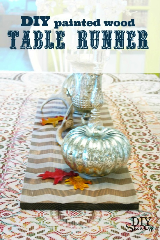 Painted Wood Table Runner DIY Show Off