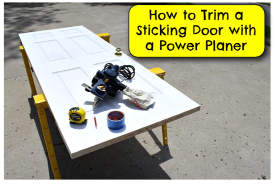 Trim A Door With A Power Planer Pretty Handy Girl