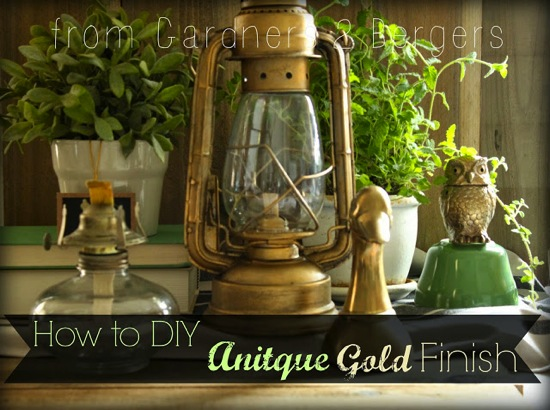 How to DIY Antique Gold Finish Garden Berger