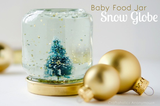 Baby Food Jar Snow Globe Craftaholics Anonymous