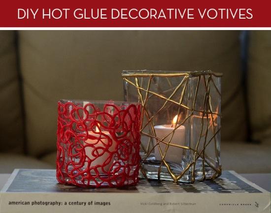 Hot Glue Decorative Votive Curbly