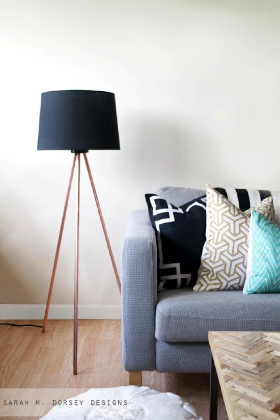 Tripod Floor Lamp Sarah M Dorsey Designs