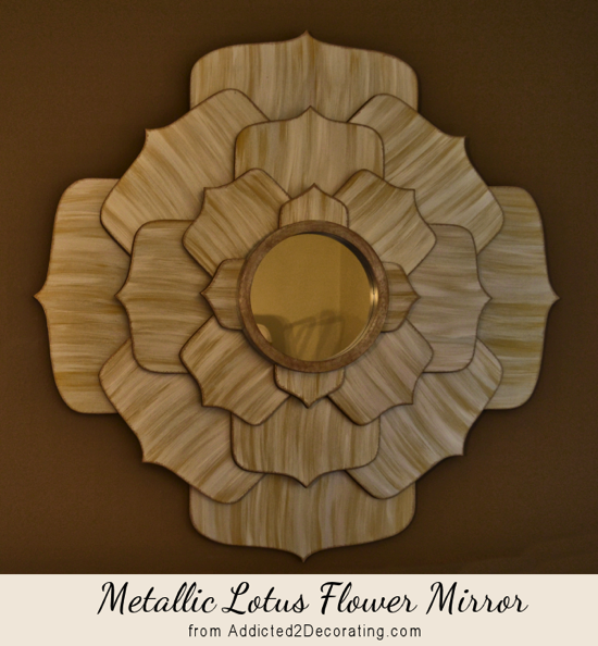 Metallic Lotus Flower Mirror Addicted 2 Decorating