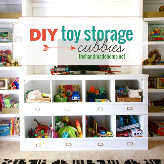DIY Toy Storage Cubbies The Handmade Home