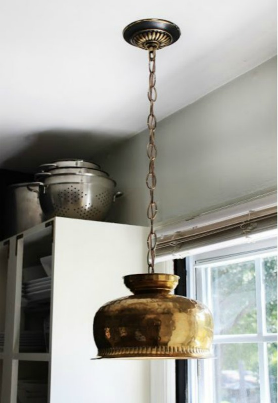 Brass Bowl Pendant Light the hunted interior