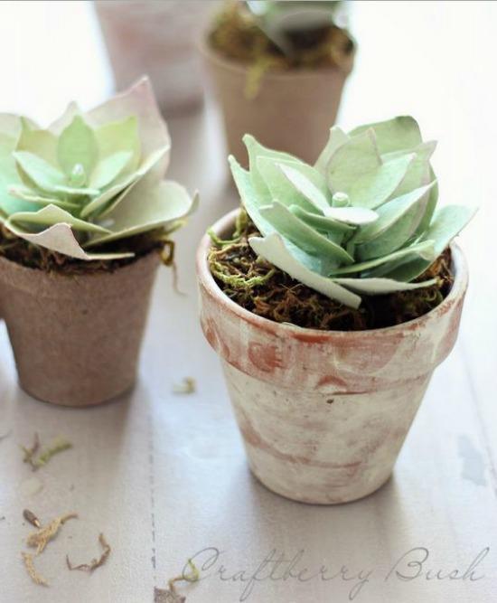 DIY Paper Succulents crafterberry bush