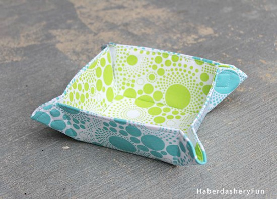 Collapsible Fabric Bowls haberdashery fun