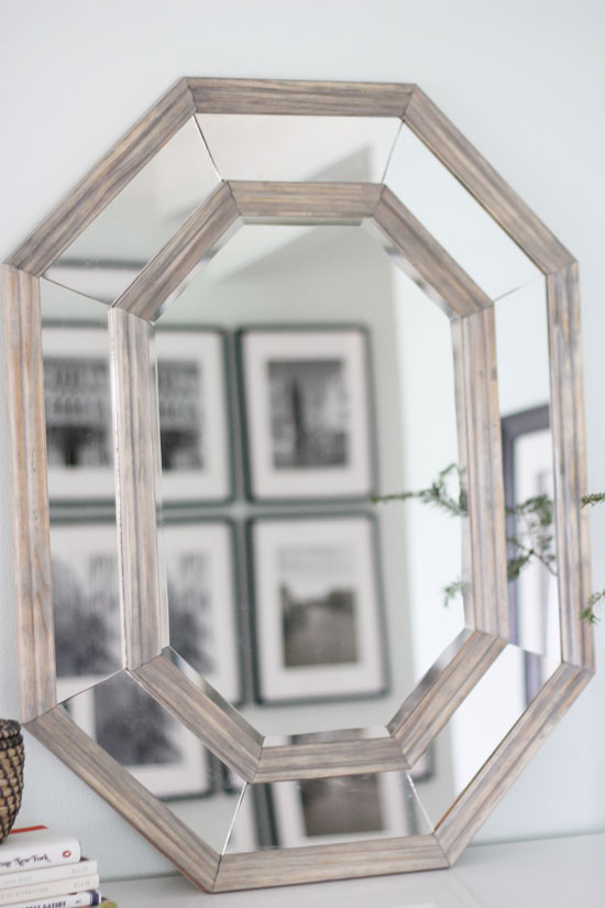 DIY Octagonal Mirror brooklyn limestone