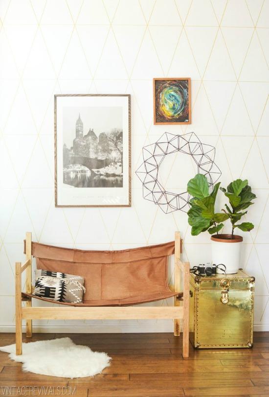 Leather Safari Sling Bench vintage revivals