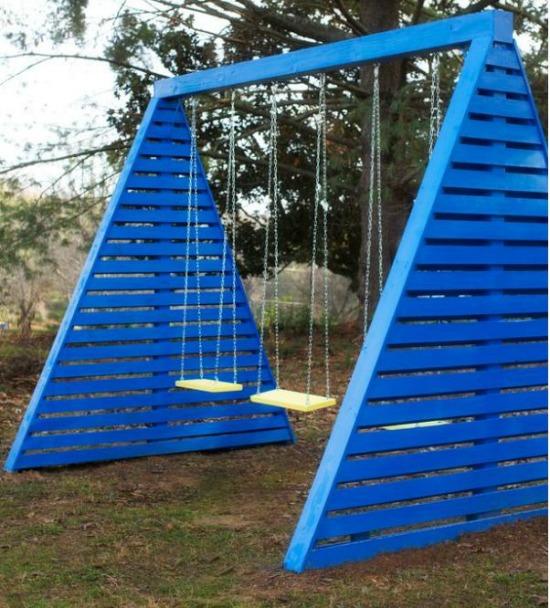 Modern A-Frame Swing Set hgtv
