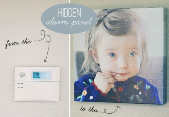 Hidden Alarm Panel the paper mama