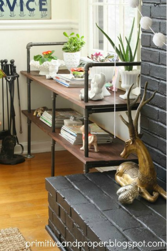 Industrial Style Built Ins primitive and proper