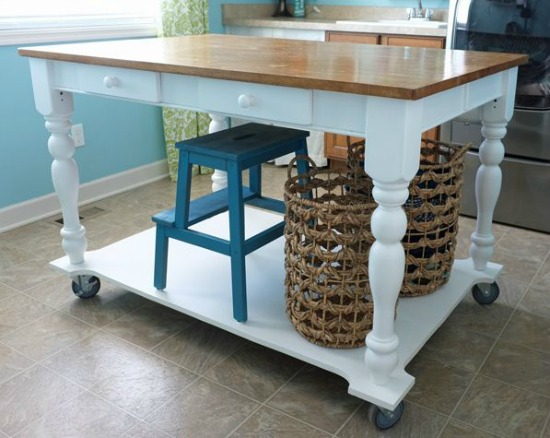 Table to Rolling Island remodelaholic