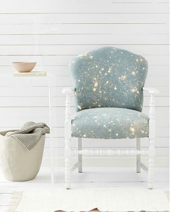 Bleach Splattered Chair country living