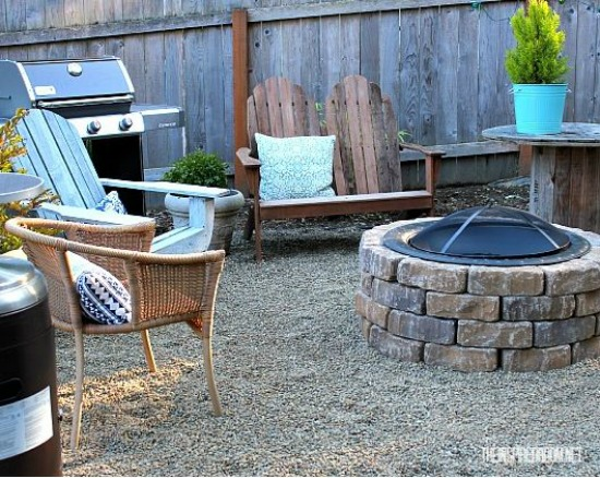 DIY Firepit the inspired room
