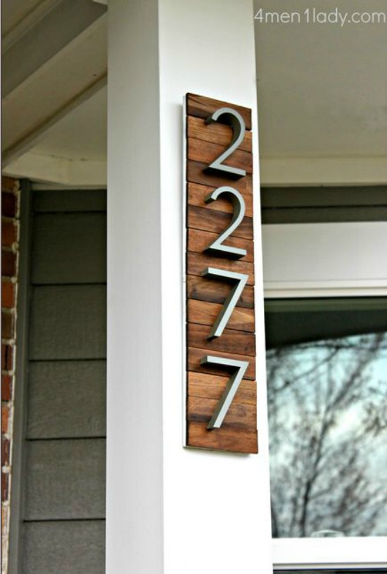 DIY House Numbers 4 men 1 lady