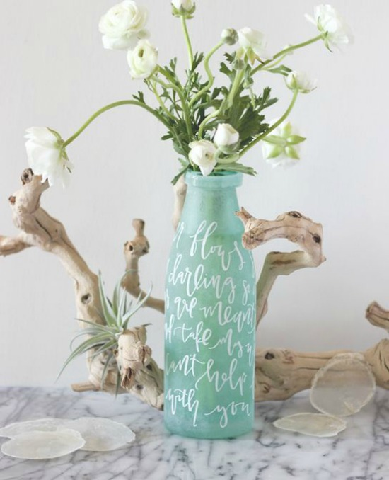 Lettered Vase Centerpiece julep