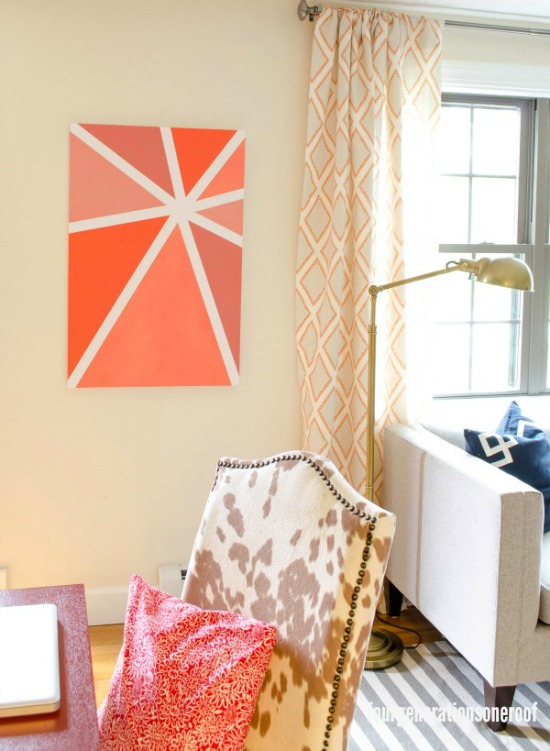 Orange Ombre Wall Art four generations one roof