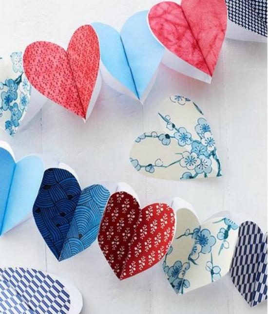 Paper Heart Garland sweet paul