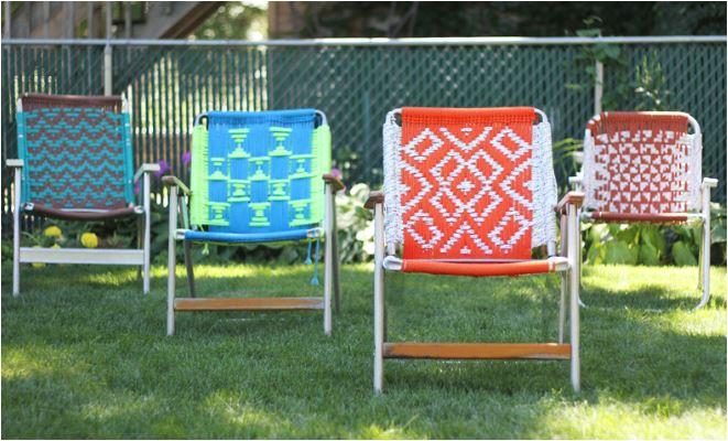 macrame lawn chairs