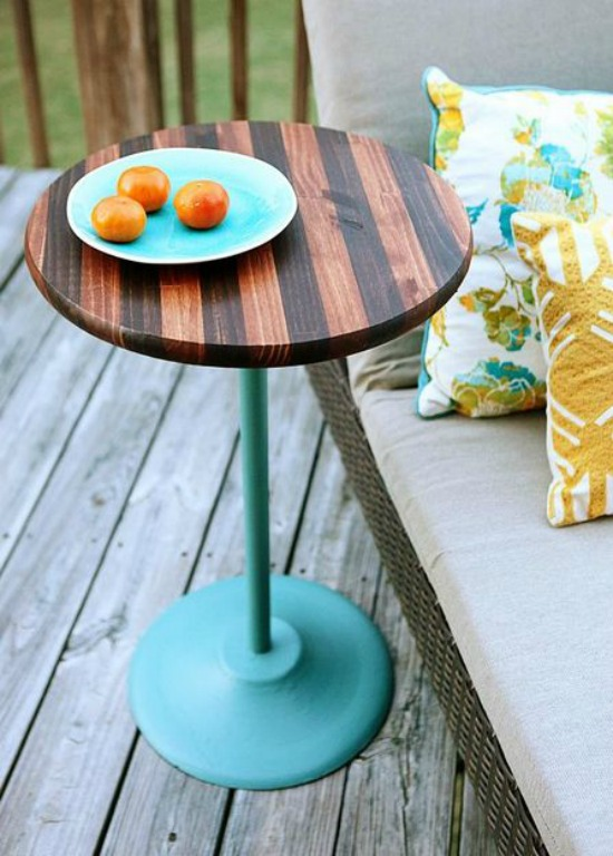 Stained Stripe Side Table bower power