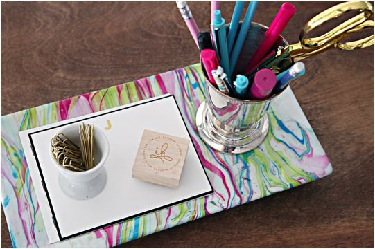 diy marbleized tray